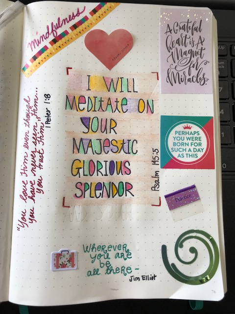 Mindfulness journal page